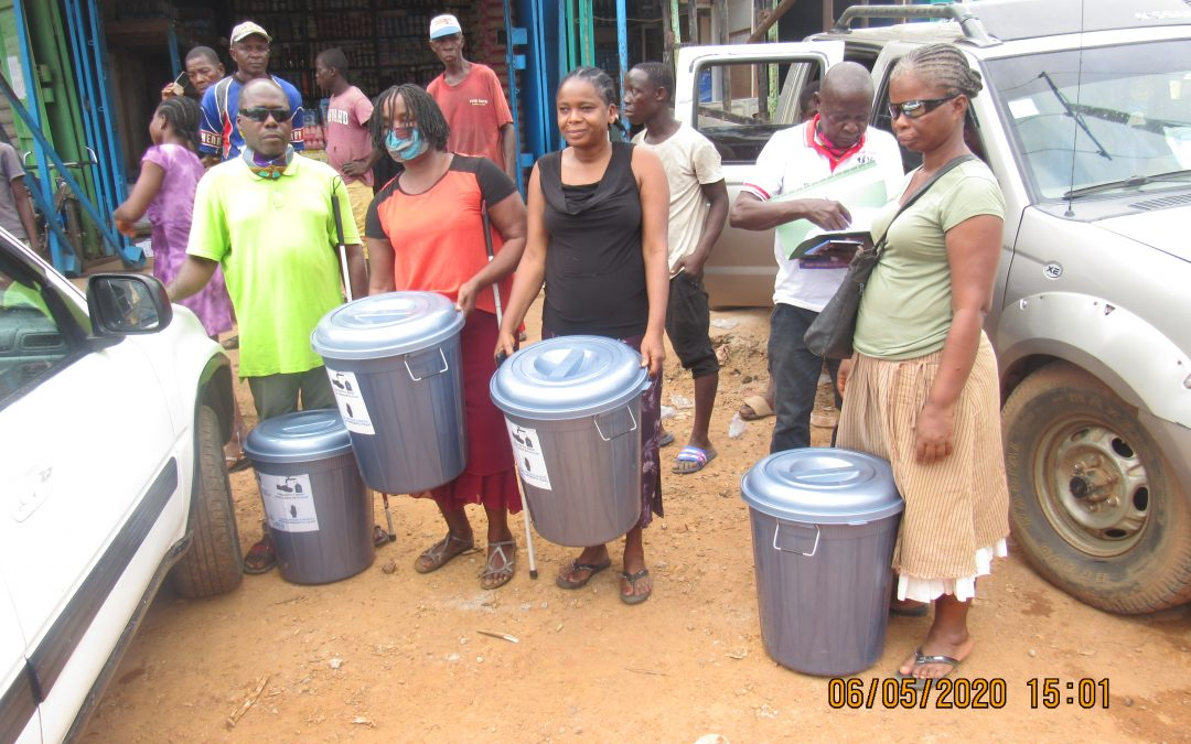 DEKAP DISTRIBUTES WASH MATERIALS DONATED BY UN WOMEN LIBERIA TO THE DISABLE COMMUNITIES
